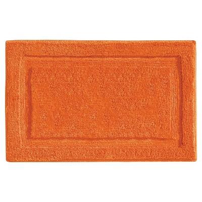 Microfiber Bathroom Shower Accent Rug - Orange - 34  x 21  - InterDesign