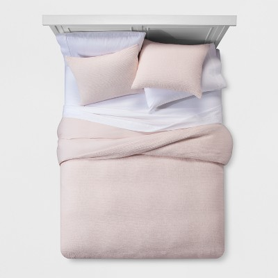 Blush Micro Texture Duvet Cover Set (Full/Queen)- Project 62™ + Nate Berkus™