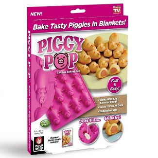 As Seen on TV Piggy Pop Silicone Baking Pan Pink