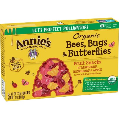 Fruit Snacks: Annie's Organic Bees, Bugs & Butterflies