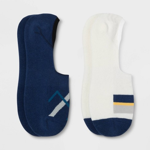 Pair of Thieves Men's Cushion No Show Socks 2pk - Blue 8-12 - image 1 of 2