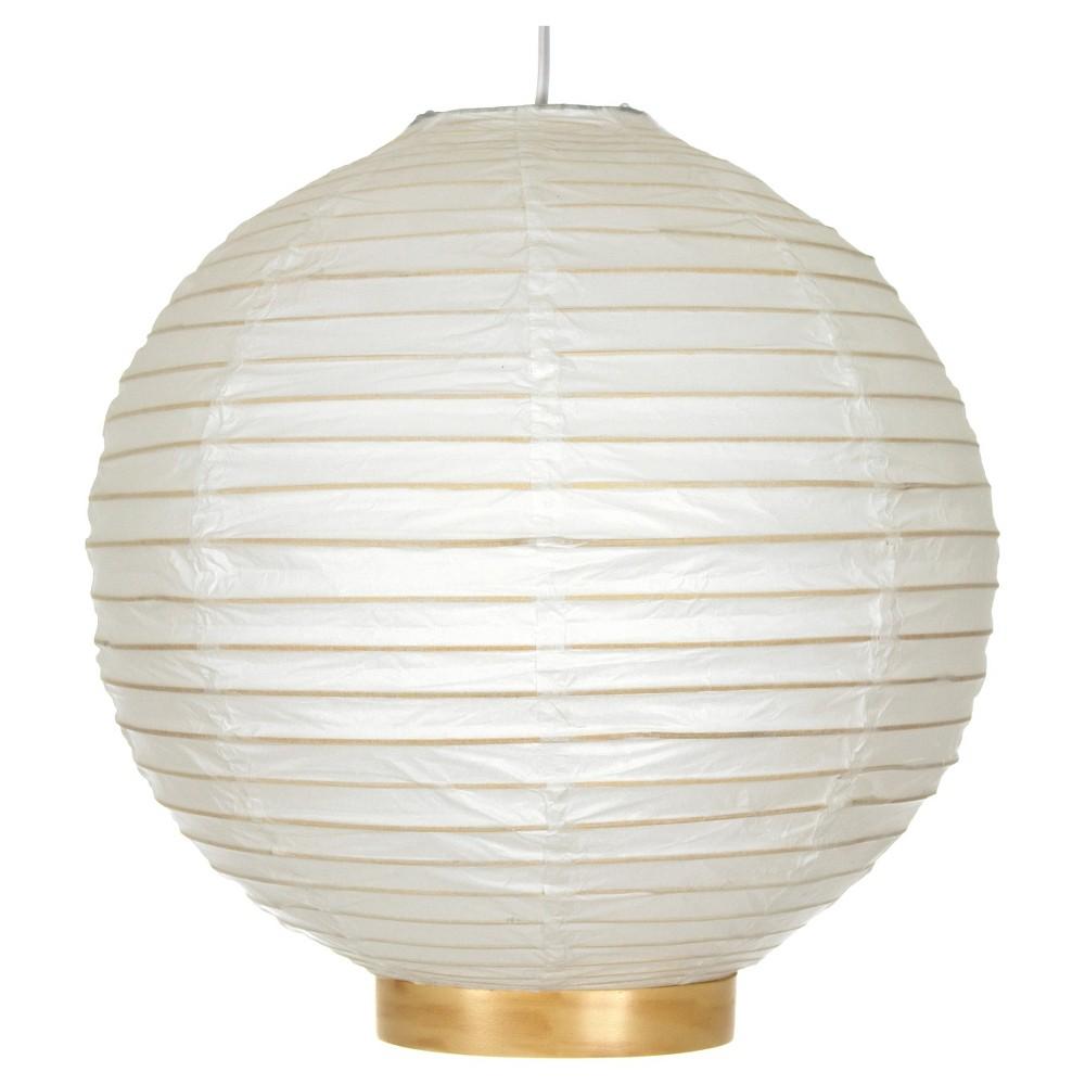 Maru Bamboo Shoji Lantern - White (12)