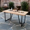 Kever Patio Dining Table with Drink Holder - Brown - Aiden Lane - image 2 of 4