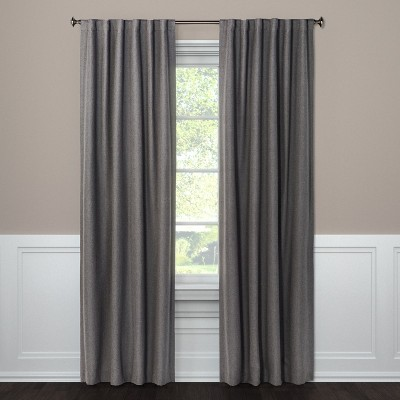 "63""x50"" Blackout Curtain Panel Aruba Dark Gray Gray - Threshold™"