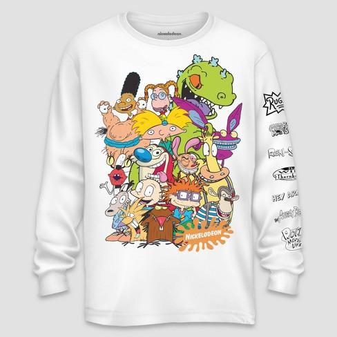 0cc541dfb Men's Nickelodeon Long Sleeve Graphic T-Shirt White : Target