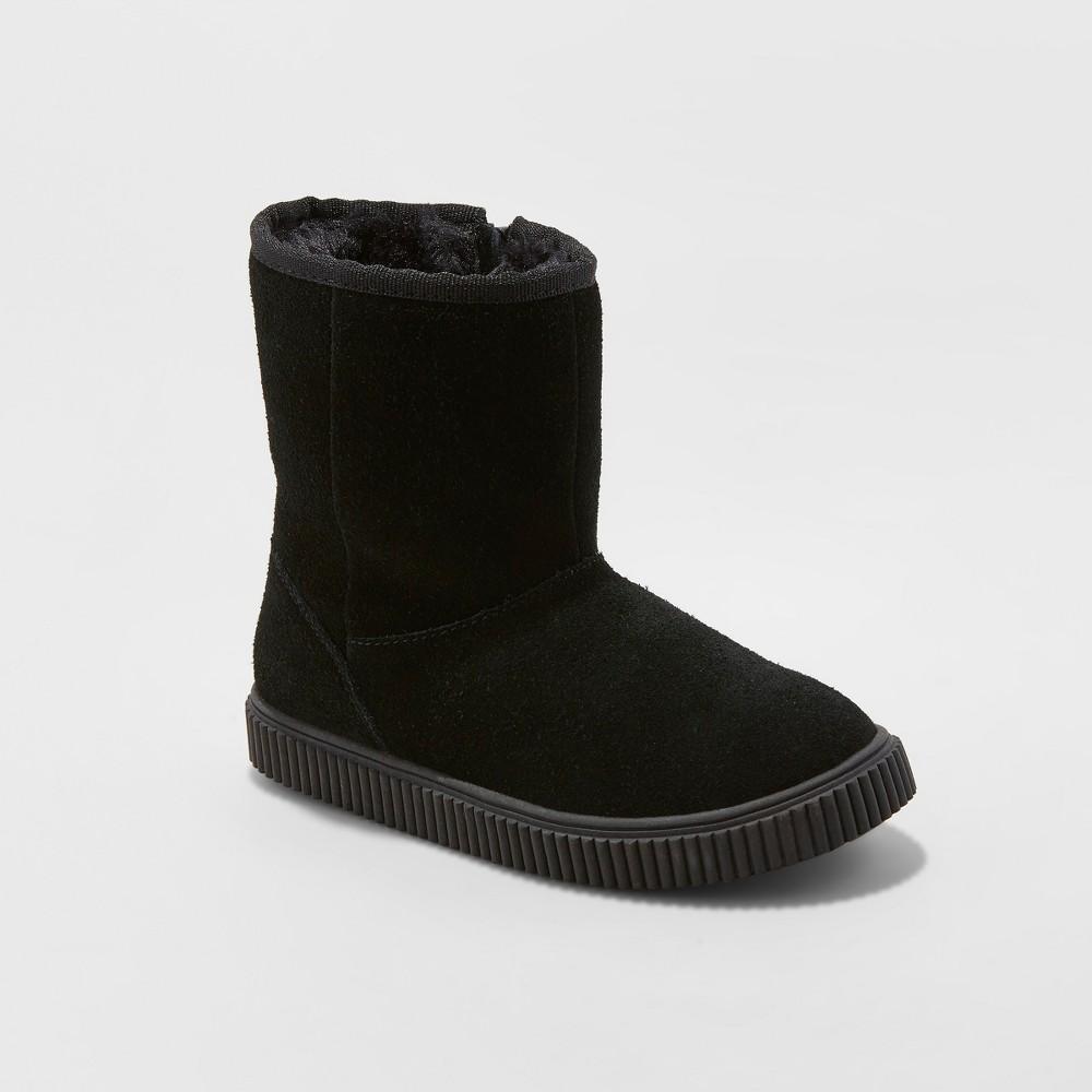Girls' Eunice Suede Fashion Boots - Cat & Jack Black 2