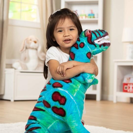 Melissa & Doug Giant T-Rex Dinosaur - Lifelike Stuffed Animal (over 2 feet tall) image number null