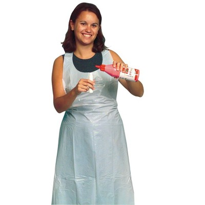 Baumgartens School Smart Full Length Plastic Disposable Apron, 28 X 48 in, pk of 100