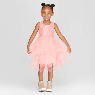 Toddler Girls' Sequin Tutu Dress - Cat & Jack™ Coral 2T