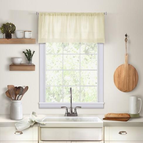Cameron Linen Rod Pocket Kitchen Window Valance - 60\