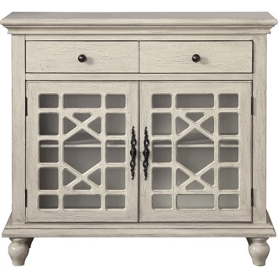 Cimmeron 2 Drawer 2 Door Cupboard Ivory - Treasure Trove