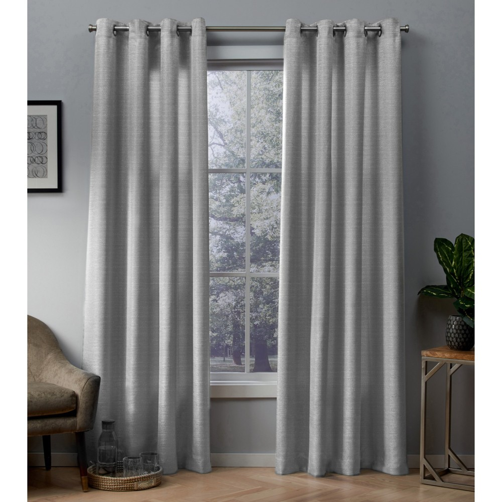 Whitby curtain panels Silver 54x96 - Exclusive Home