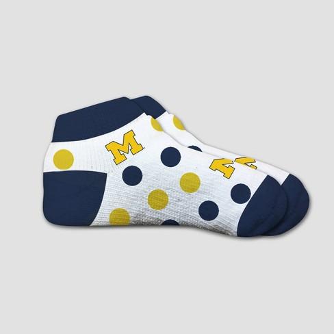 NCAA Michigan Wolverines Polka Dot Infant Socks 2T-4T - image 1 of 1