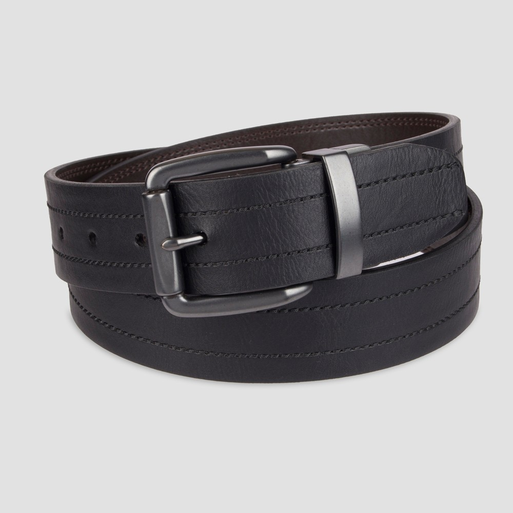 "Image of ""DENIZEN from Levi's Men's 1.57"""" Reversible Casual Belt - Black L, Men's, Size: Large"""