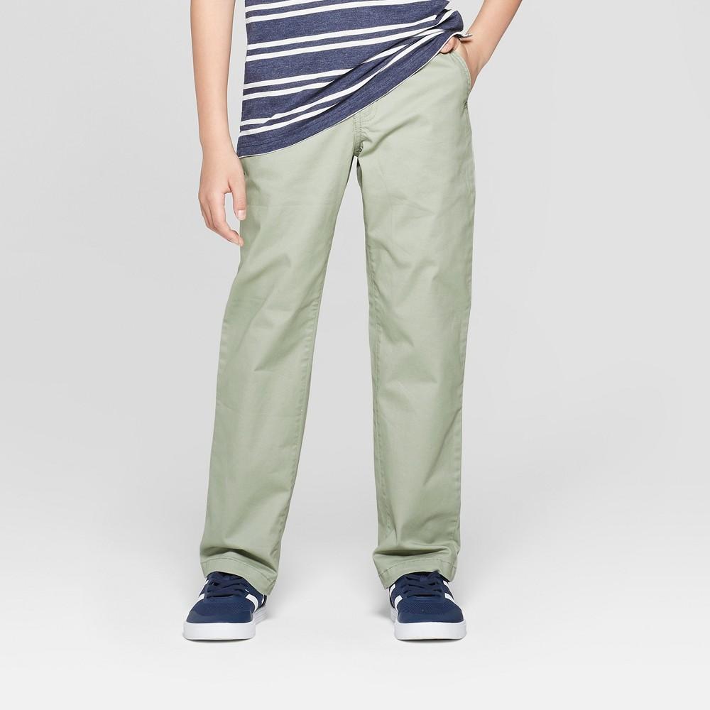 Boys' Chino Pants - Cat & Jack Olive (Green) 4
