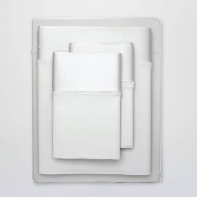 Queen Ultra Air Solid Sheet Set Bright White - SHEEX