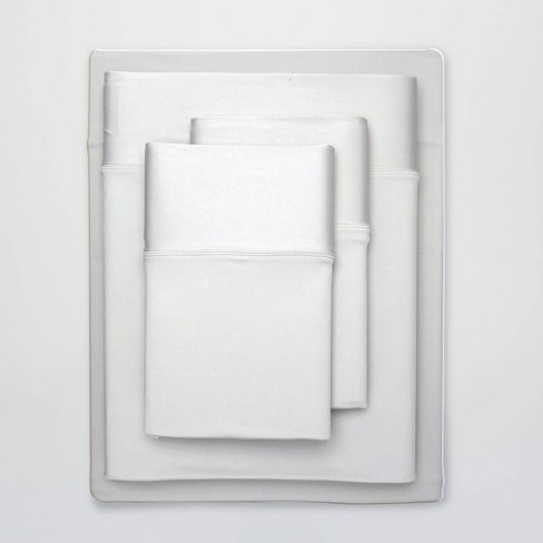 """NEW ~  SHEEX 4 PC QUEEN SHEET SET /"""" BRIGHT WHITE/"""" PERFORMANCE FABRIC SHEETS COOL"""
