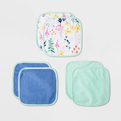 Baby 6pk Little Wildflower Washcloth Set - Cloud Island™ One Size