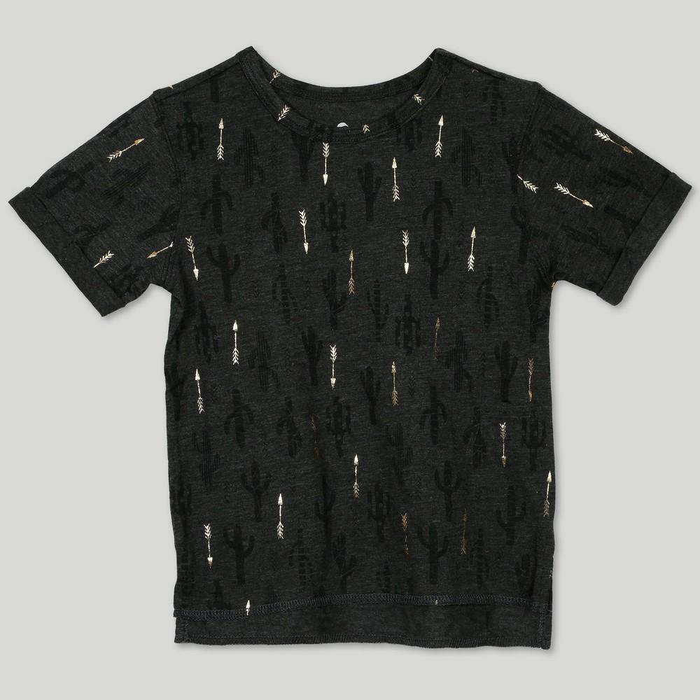 Image of petiteAfton Street Toddler Boys' Short Sleeve T-Shirt - Gray 12M, Boy's