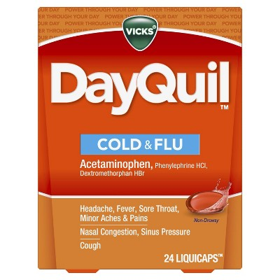Vicks DayQuil Cold & Flu Multi-Symptom Relief LiquiCaps - 24ct