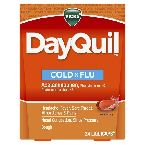 Vicks DayQuil Cold & Flu Multi-Symptom Relief LiquiCaps - 24ct - image 1 of 4
