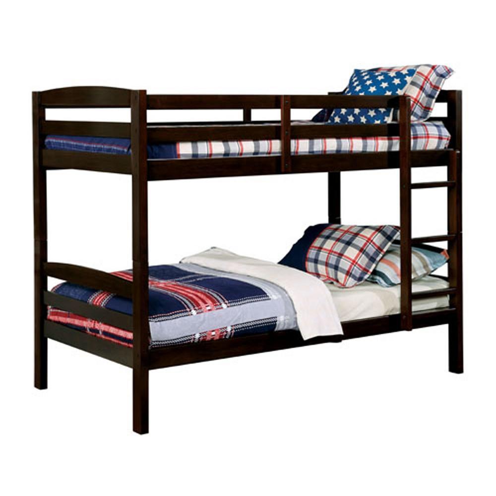 Twin Gorman Kids Bunk Bed Dark Walnut - Homes: Inside + Out