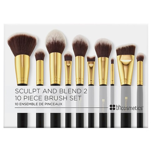 99a5b2672ff5 BH Cosmetics Sculpt And Blend 2 Cosmetic Brush Set - 10ct   Target