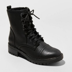 Women's Kamryn Wide Width Lace Up Combat Boot - Universal Thread™