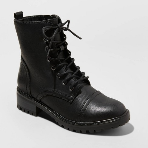 Women's Kamryn Lace Up Combat Boots - Universal Thread™ - image 1 of 3