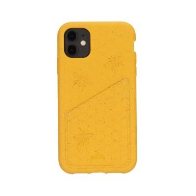 Pela Apple iPhone Eco-Friendly Wallet Case - Honey Bee Engraving