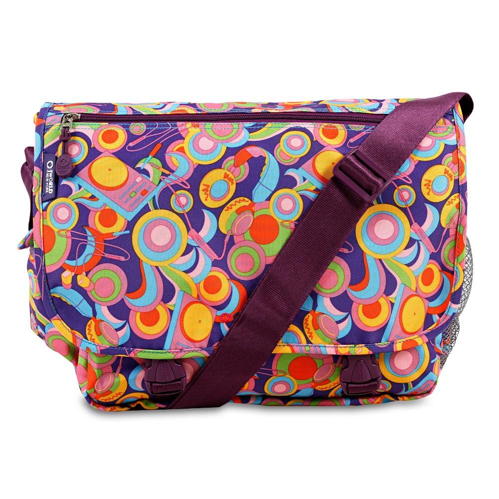 J World Terry Messenger Bag - Funky, Purple