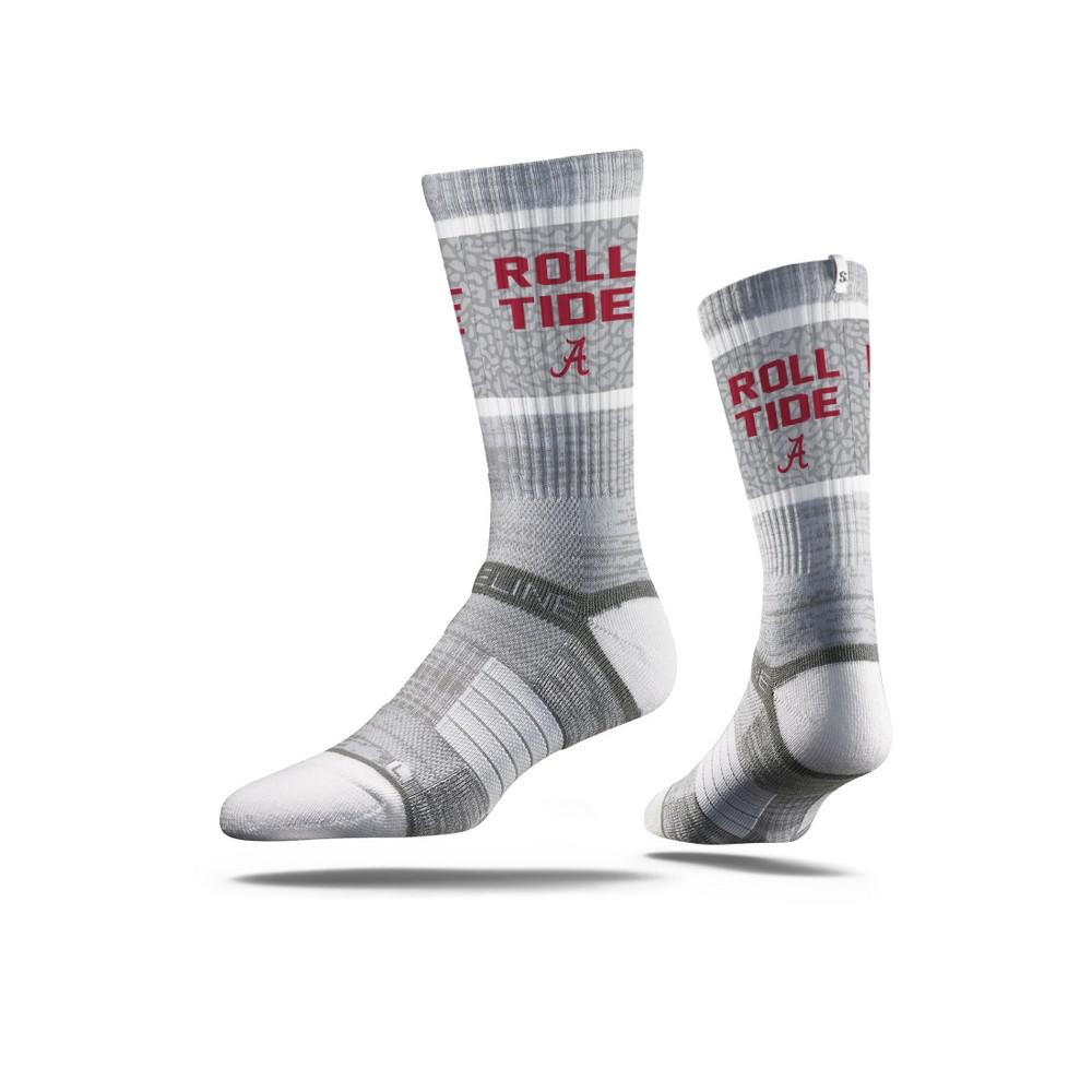 NCAA Slogan Socks Alabama Crimson Tide M/L, Men's