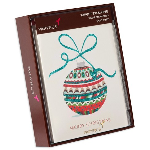 papyrus 12ct ornament prelude holiday boxed cards target - Papyrus Holiday Cards