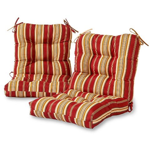 Outdoor Seat/Back Chair Cushion Set - Roma Stripe - Greendale Home Fashions - image 1 of 3