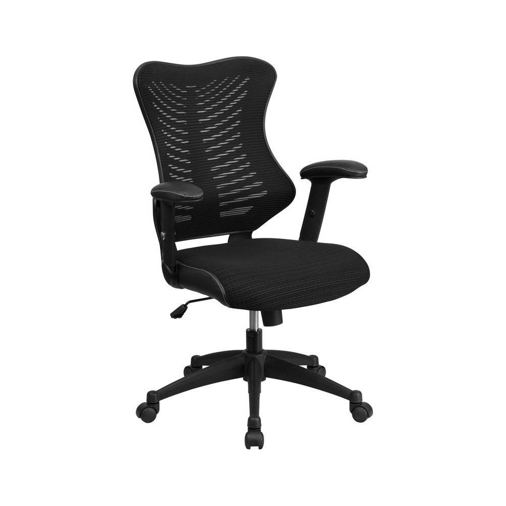 High Back Executive Mesh Chair Black - Riverstone Furniture Collection
