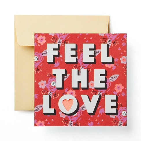 """Feel the Love"" Valentine's Day Card - image 1 of 4"