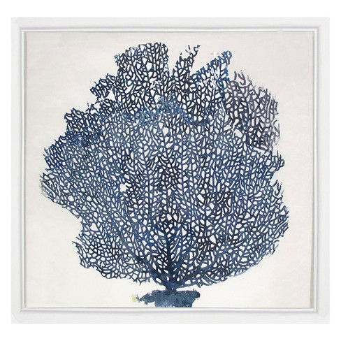 aacb6aa1a44 Blue Coral Framed Wall Art - Threshold™   Target
