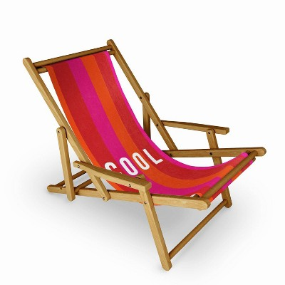 Julia Walck Cool Type on Warm Colors Sling Chair - Deny Designs