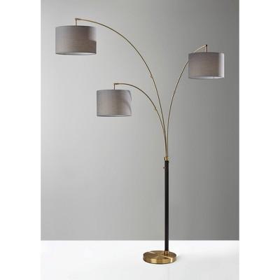 3 Arm Bergen Arc Lamp Black - Adesso