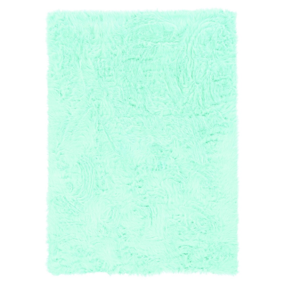 "Image of ""Faux Sheepskin Accent Rug - Blue (22""""x34"""")"""