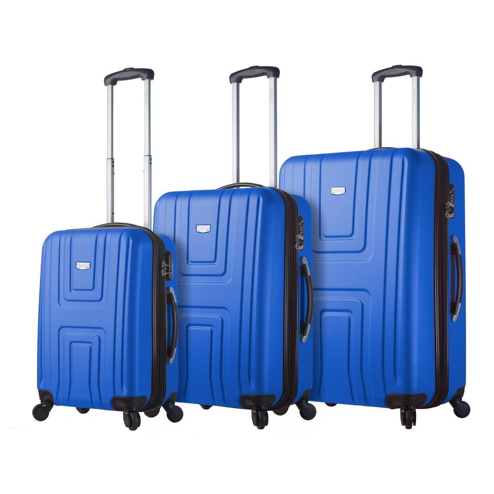 Mia Viaggi Ferrara Hardside 3pc Luggage Set - Blue