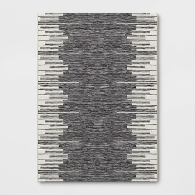 7' x 10' Graphic Steps Outdoor Rug Black - Project 62™