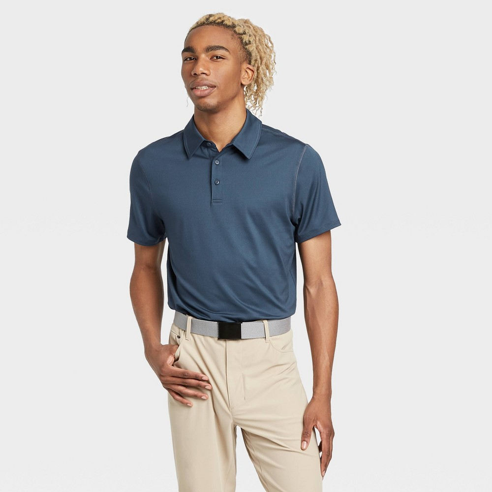 Men's Jersey Golf Polo Shirt - All in Motion Blue L was $20.0 now $12.0 (40.0% off)