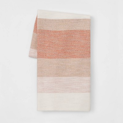 Cotton Woven Stripe Throw Coral - Threshold™