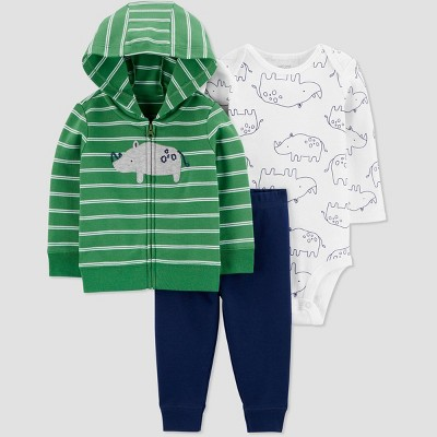 Baby Boys' North Rhino Top & Bottom Set - Just One You® made by carter's Green 3M