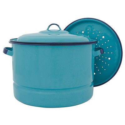 Cinsa 20qt Steamer Pot with Lid Turquoise
