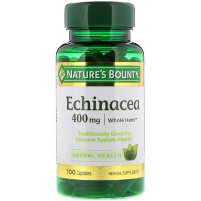 Nature's Bounty Echinacea, 400 mg, 100 Capsules, Herbal Supplements