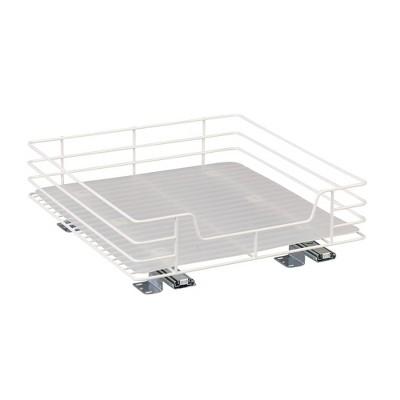 Household Essentials 15'' Glidez Sliding Pantry Organizer White