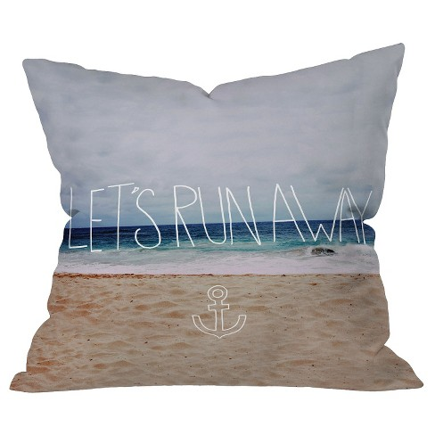 Lets Run Away III Throw Pillow - Deny Designs - image 1 of 1
