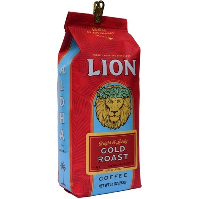 Lion Coffee Lion Gold Medium Roast Ground Coffee - 10oz